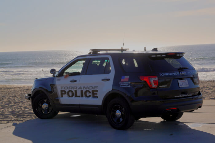 History Page TPD Car at the Beach 1