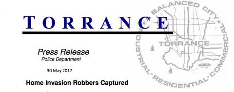 Torrance Press Release